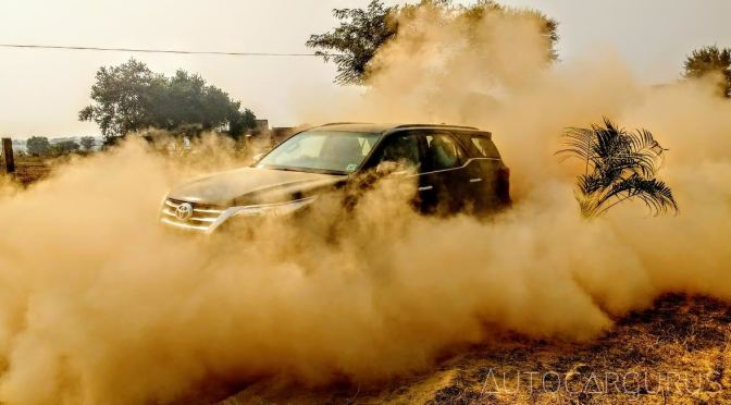 2016 Toyota Fortuner driven off road, the Boot Camp experience