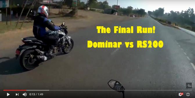 Video: Bajaj Dominar 400/ Kratos 400 being chased by Bajaj RS 200, highway run!