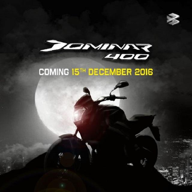Bajaj Dominar 400 launch date confirmed for December 15