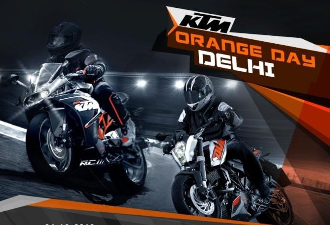 KTM Orange Day Delhi to be held on 24th November in Okhla