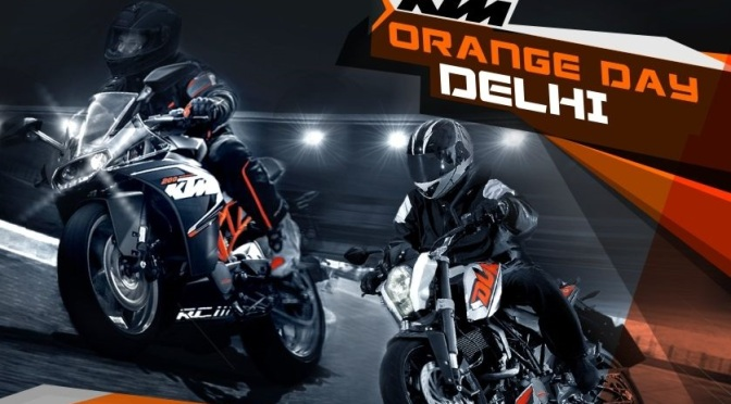 KTM Orange Day Delhi to be held on 24th November in Okhla
