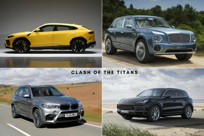 Lamborghini Urus vs Bentley Bentayga vs Porsche Cayenne Turbo vs BMW X6 M