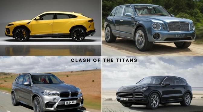 Lamborghini Urus vs Bentley Bentayga vs Porsche Cayenne Turbo vs BMW X6 M