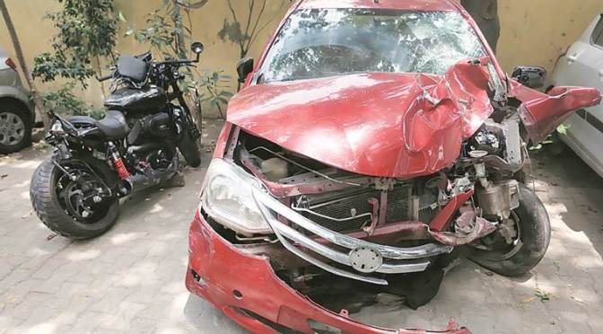 Harley hit by car, rider thrown over bridge into Yamuna, still missing after 24 hours